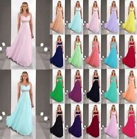 New Cap Sleeve Long Evening Formal Party Ball Prom Bridesmaid Dress Size 6-18
