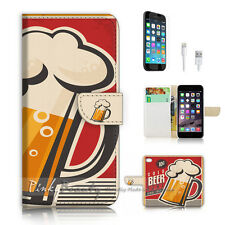iPhone 7 (4.7') Flip Wallet Case Cover P2459 Beer