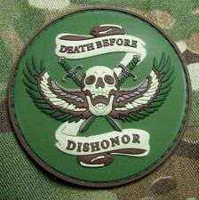 DEATH BEFORE DISHONOR 3D PVC US ARMY USA MULTICAM VELCRO® BRAND FASTENER PATCH