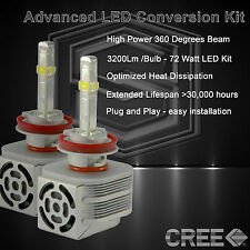 360 Degree Beam - New Gen CREE LED 6400LM Head Light Kit 6k 6000k - H11 (A)