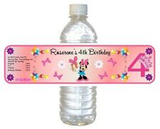 5  Birthday Party Favors ~ Water Bottle labels Girl Buy 3 get 1 free (bp1)