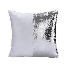 Magic Reversible Mermaid Sequins Cushion Glitter Cover Sofa Throw Pillow Case Z