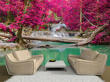 Pink Trees Water Fall Beautiful Wall Mural Photo Wallpaper GIANT WALL DECOR