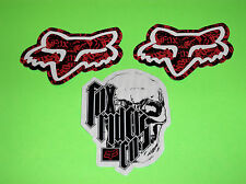 3 FOX RACING MOTOCROSS ATV UTV QUAD SKATEBOARD SNOWBOARD BMX STICKERS DECALS &*&