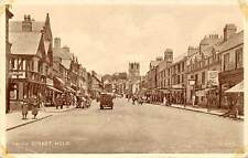 Wales High Street, Mold, vintage animated street, auto cars voitures