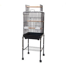 Playtop Parrot Cockatiel Bird Cage with Stand 18x18