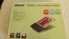 MICRONET WIRELESS LAN CARDBUS ADAPTER IEEE 802.11b/g WIRELESS STANDARD