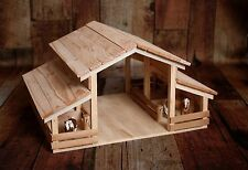 Handmade Wood Toy Barn for Farm Animals by E-S Farm Toys