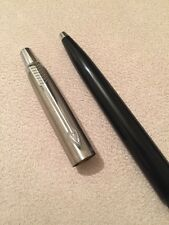 VINTAGE PARKER JOTTER BLACK CT BALLPOINT PEN-USA-BLUE INK-EXWO
