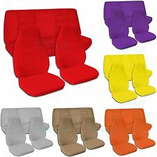 Jeep Wrangler YJ/TJ/JK (1987 to 2017) Solid Color Seat Covers Front & Rear Set