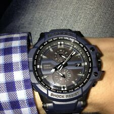 NEW CASIO GWA1000FC-2A G SHOCK BLACK & BLUE RESIN MULTI-FUNCTION CHRONO WATCH