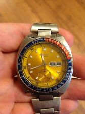 Rare Vintage Seiko Pogue Pepsi Men's Automatic Chronograph Wrist Watch 6139-6005