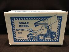 Vintage Oval Track Toy Company 1/16 Scale Model Red Sprint Car Made in Australia