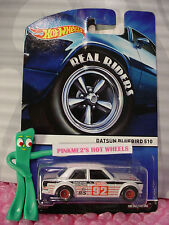 2015 Hot Wheels Real Riders #4 DATSUN BLUEBIRD 510☆White; Red 92; S10 ☆Heritage