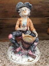 LRG VINTAGE CAPODIMONTE PORCELAIN / CERAMIC FIGURINE. Made In Italy.