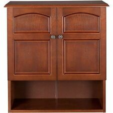 Bathroom Storage Cabinet Wall Mount Wood Furniture Toilet Door Medicine Shelves