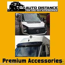 VW Crafter 2012 Onward Sun Visor and Bug Guard Solid Black Acrylic