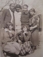 ANTIQUE AFRICAN AMERICAN FLAPPER GIRLS IN or KY BOYS OUR GANG TRIO GROUP PHOTOS