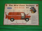 Vintage Rare Enamel Style The New Ford Transit 12-35 cwt V4 Advertising Sign