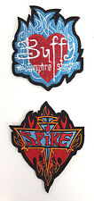 """Buffy the Vampire Slayer & Spike 3.5"""" Flame Logo Patch Set of 2  (BVPA-02/3)"""