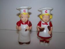 VINTAGE CAMPBELL SOUP COMPANY PLASTIC SALT AND PEPPER SHAKERS