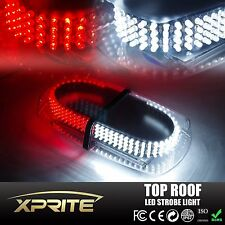 240 LED 12V Emergency Hazard Roof Top Strobe Light Bar w/Magnetic base White Red