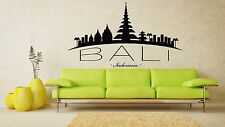 Wall Vinyl Sticker Decal Skyline Horizon Panorama City Bali Indonesia F1787