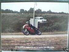 S0111- RENZO PASOLINI AERMACCHI 250 CC ASSEN 1971 NO 5 PHOTO COLOR MOTO GP