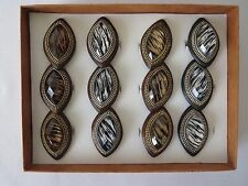 Lot of 12 (1 Dozen) Acrylic Marquise Animal Printed Eye Shaped Fashion Rings.