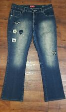 SOUTH POLE Ladies Cotton/Poly Spandex Embellished Jeans Sz 11 Juniors