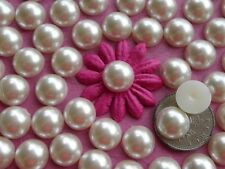 "100! Lovely Cream Half Pearl Flatback Embellishments - 10mm/0.4""  Craft Pearls"