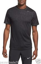 MEN'S SIZE LARGE BLACK T-SHIRT NIKE LEGEND TEE DESIGN PRINTED TRAINING DRI-FIT
