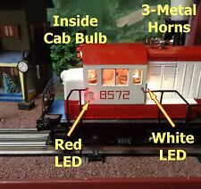 SMOKING 8572 FRISCO Lionel Diesel Locomotive - Added Lights, LEDs