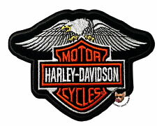 HARLEY DAVIDSON DOWN WING EAGLE BAR AND SHIELD VEST PATCH ** DISCONTINUED **
