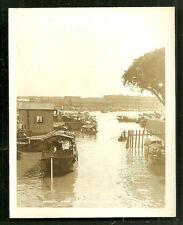 Canton photo Sampan Canal Guangzhou China 1928