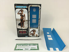 "custom Vintage Star wars rotj 12"" princess leia slave box + inserts"