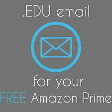 .EDU Email Address for Free 6 months Amazon Prime Student, Microsoft Office, etc