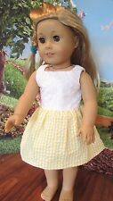 "homemade 18"" american girl/madame alexander yellow sundress doll clothes"