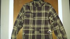Burton Mens Plaid Snowboard Skiing Nylon Winter Jacket Sz Small