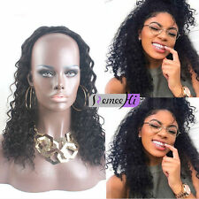 """15""""-20"""" Hot Sale 100% Remy Human Hair Sexy Curly 3/4 Half  Wigs For Black Women"""