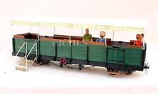 KIT / SCRATCH BUILT 32mm NARROW GAUGE GREEN OPEN PASSENGER COACH WITH CANOPY
