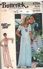 4768 UNCUT Vintage Butterick Sewing Pattern Misses SemiFitted Jumpsuit Fast Easy