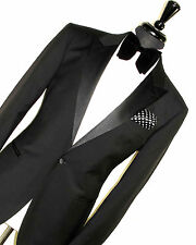 NEW LUXURY MENS TM T M LEWIN LONDON TUXEDO DINNER PEAK LAPEL SUIT 42R W36 X L32