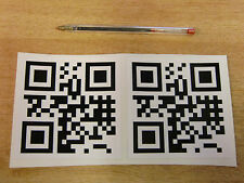 2 off Personalised QR code decals 100mm - black + white
