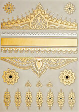 Best Quality Gold Metallic Bindi Temp Tattoos Wedding Festival Jewelry Headdress