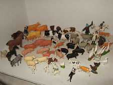 Britains Large Farm Animal Pack D, 60 pieces,some rare, Pigs, Sheep Cows, Bull