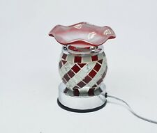 Electric Scented Oil Warmer Lamp Wax Tart Burner Fragrance Diffuser red Tile