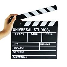 Universally Studios clapper board filming snap