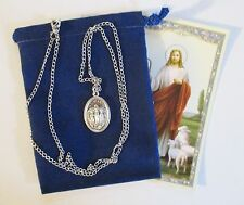 Lovely Our Lady of Knock Saint Medal with 24 Inch Necklace