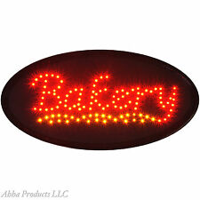 Oval Oven Fresh Bread BAKERY Donut Cake Shop LED Open Store Deli Cafe Sign neon
